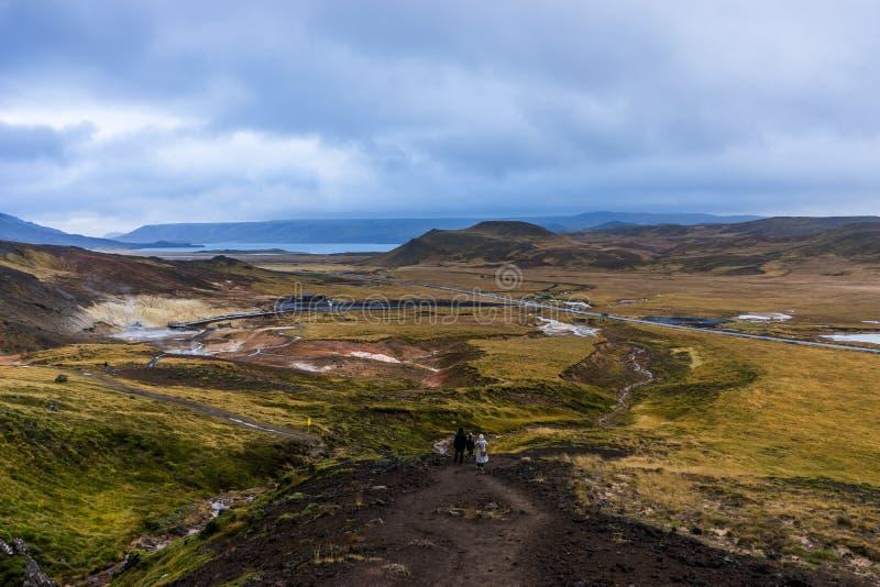 Giacimento geotermico di trascuratezza in Islanda immagini stock libere da diritti