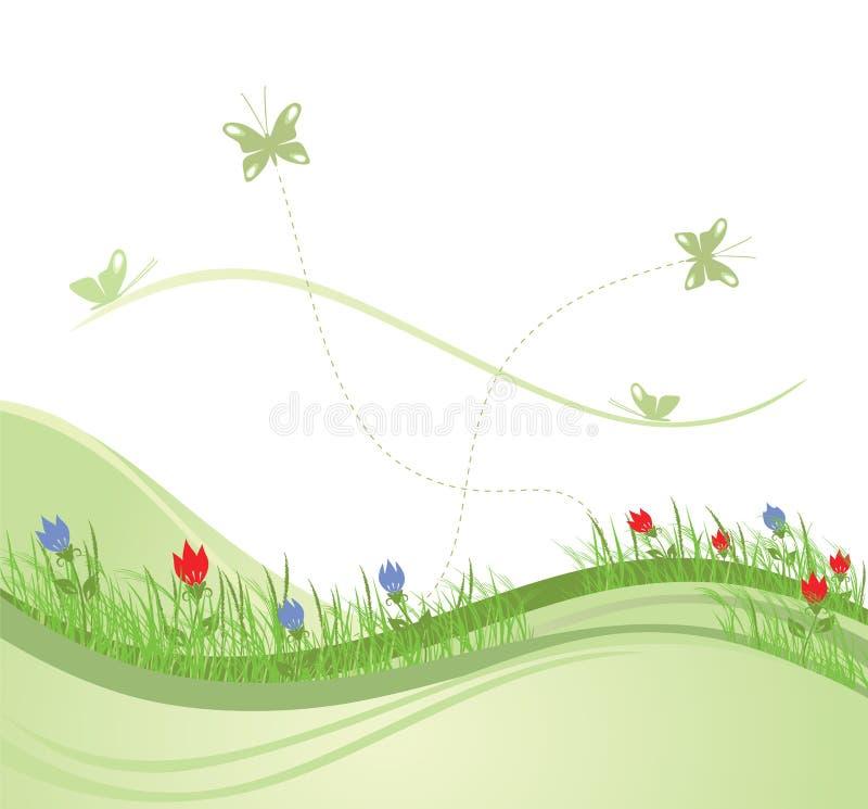 Giacimento verde 2 della sorgente illustrazione di stock