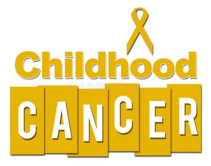 Giallo del Cancro di infanzia con il nastro illustrazione vettoriale