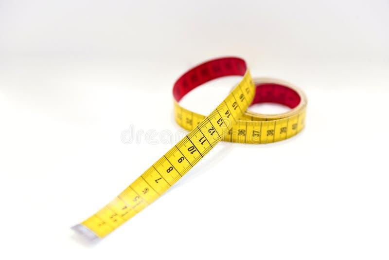 Giallo - marcatura rossa per la cucitrice fotografia stock