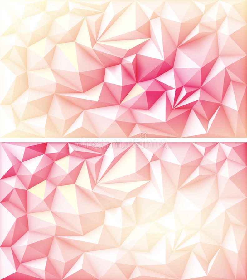 Giallo multicolore Ruby Backgrounds di rossi carmini del triangolo geometrico poligonale del poligono illustrazione di stock