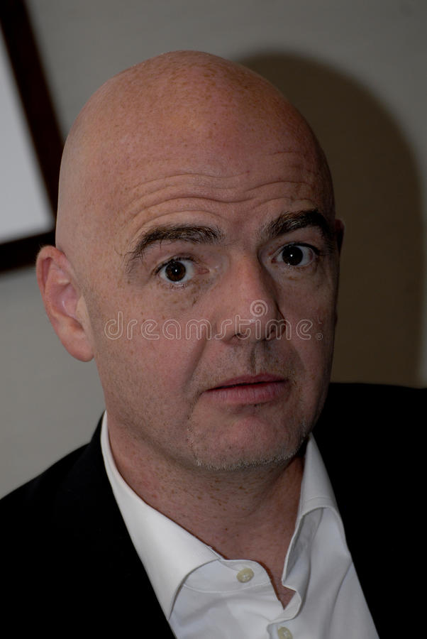 GIANNI INFANTINO_CANIDATE FOR PREISDENT FIFA royalty free stock photography