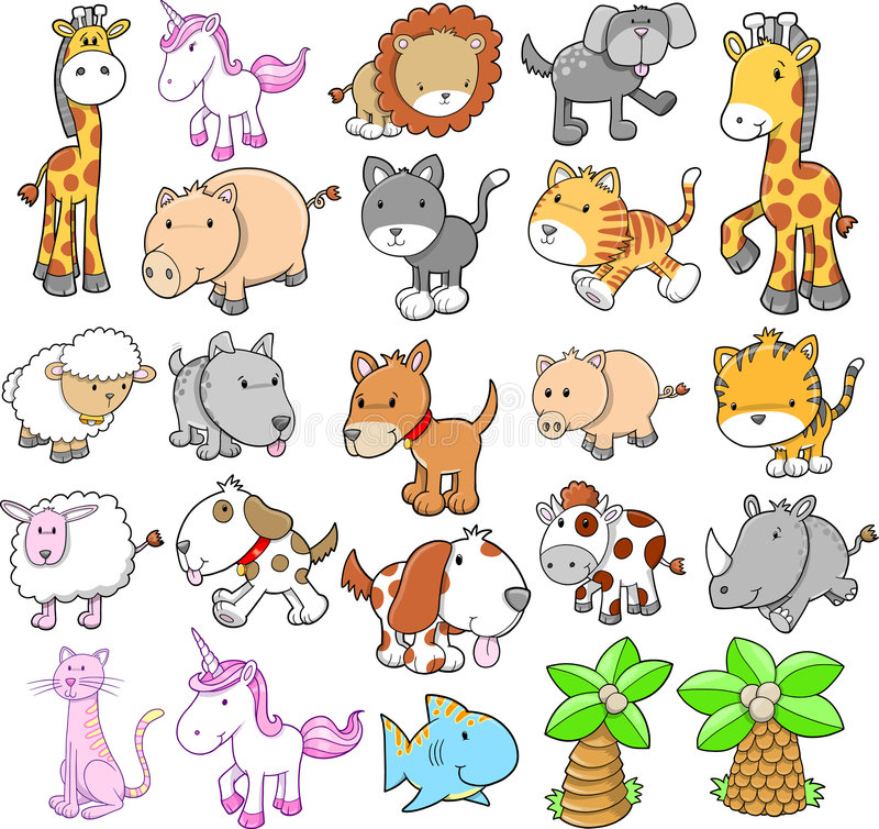 Giant Animal Set Vector royalty free stock photo