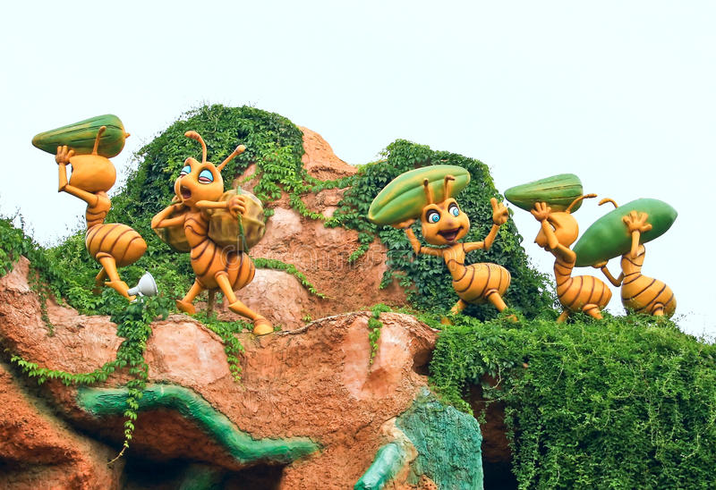Giant ants royalty free stock photos