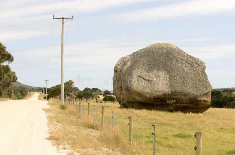 Giant boulder, Flinders Island, Tasmania stock photo