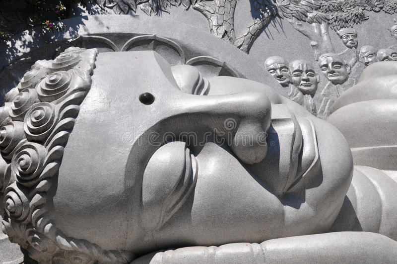 Giant buddha head stock photos