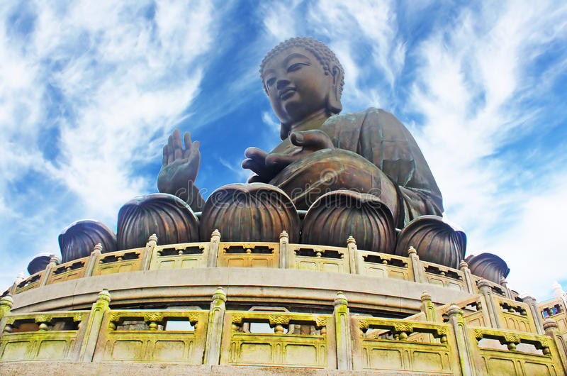 Giant Buddha. Hong Kong royalty free stock photo