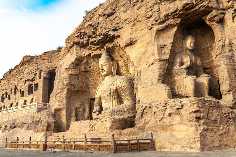 Yungang Caves, Datong, Shanxi. China stock photography