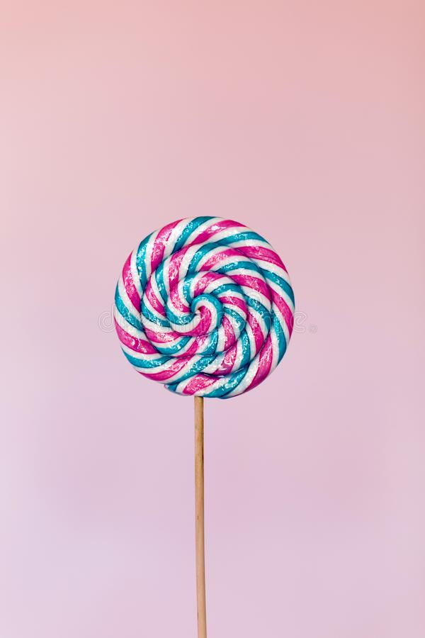 Giant candy lollipop on stick royalty free stock photo