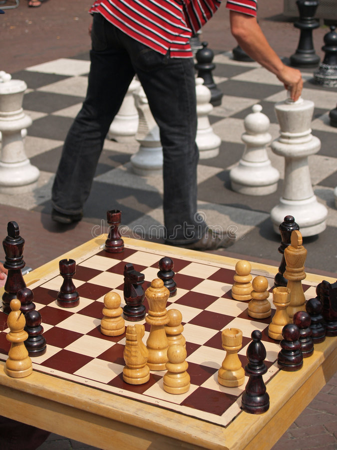Giant chess royalty free stock photos
