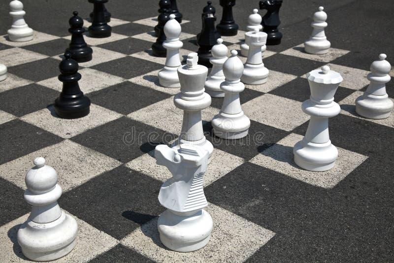 Giant chess stock photo