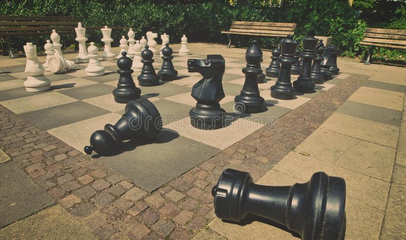 Giant chess royalty free stock image