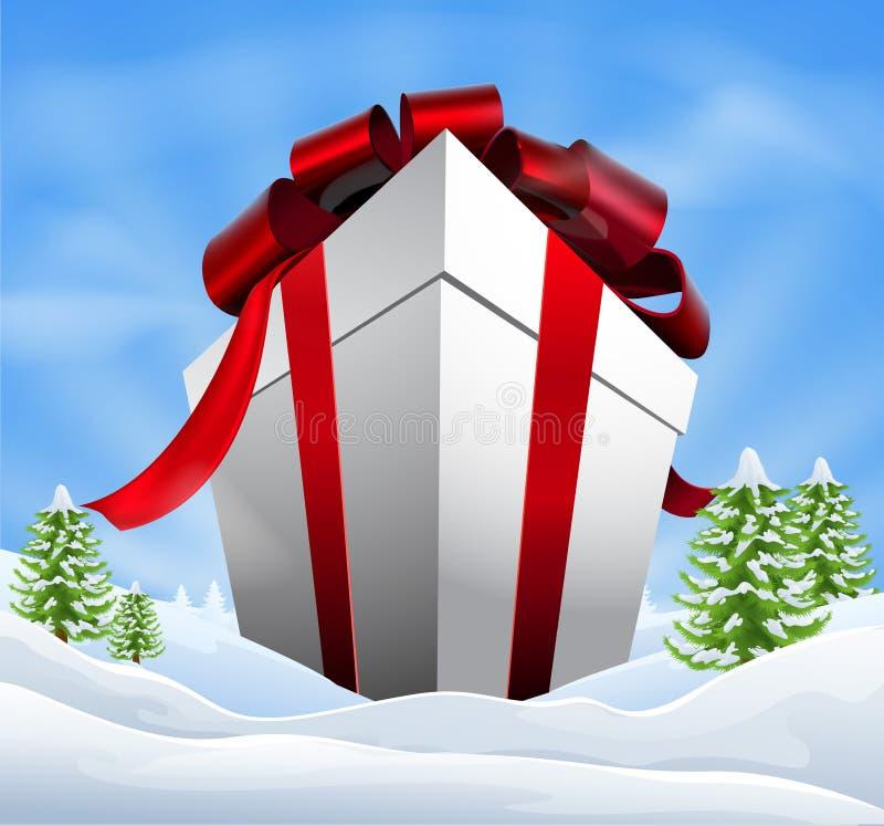 Giant Christmas Gift royalty free illustration