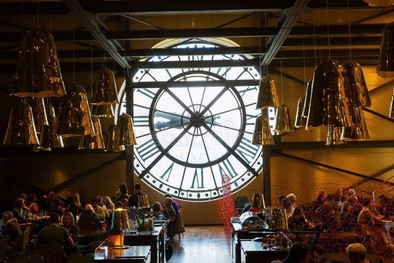 Giant clock of Musee dOrsay, Paris, France royalty free stock image