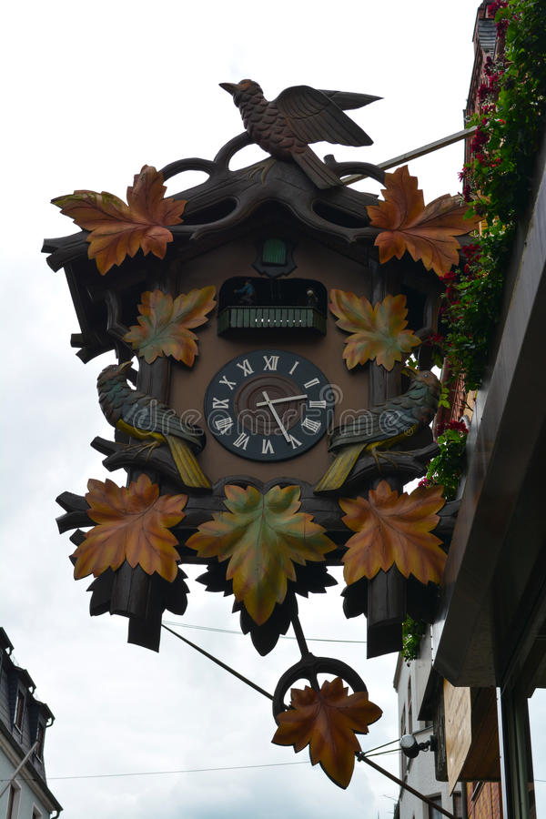 Giant cuckoo clock stock images