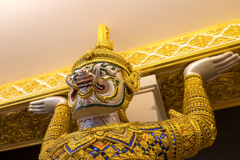 Giant demon, Thailand. Giant demon, King power duty free, Bangkok, Thailand, - Oct 1: giant demon stand in front of the Theater on Saturday 1, October 2016 royalty free stock photos