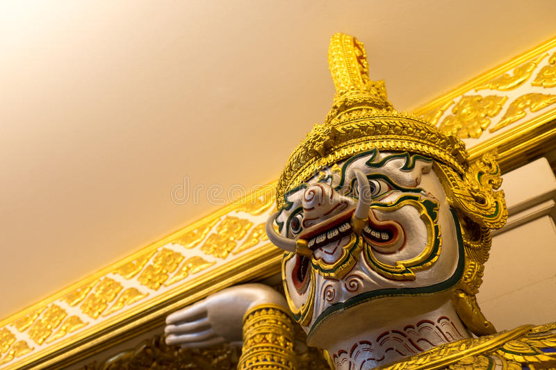 Giant demon, Thailand. Giant demon, King power duty free, Bangkok, Thailand, - Oct 1: giant demon stand in front of the Theater on Saturday 1, October 2016 royalty free stock photo