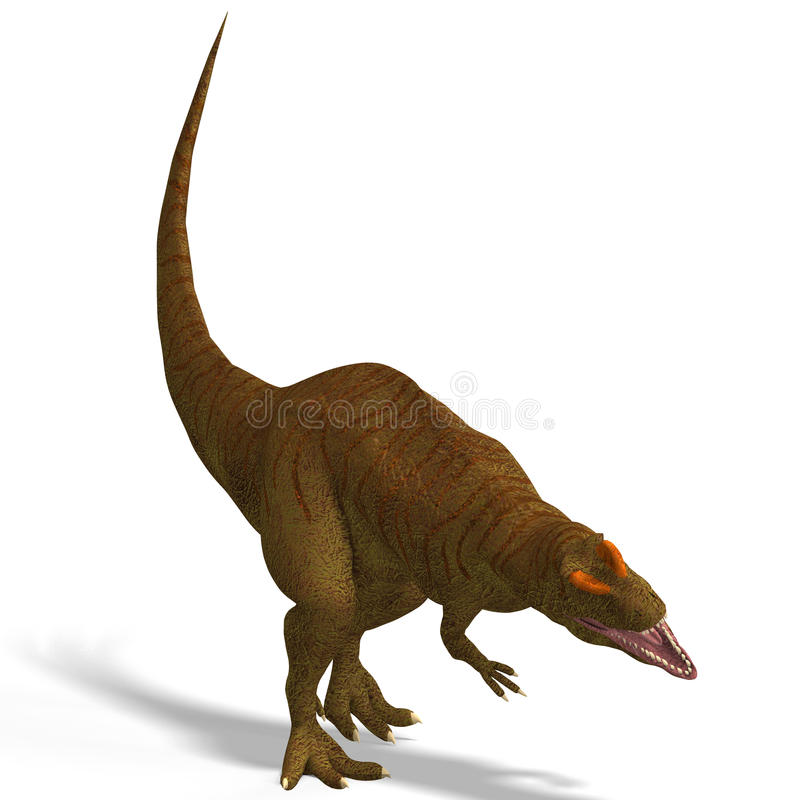 Download Giant Dinosaur Allosaurus With Clipping Path Over Stock Illustration - Image: 9537782