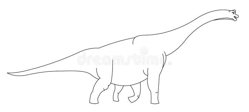Giant Dinosaur Black And White Royalty Free Stock Photo