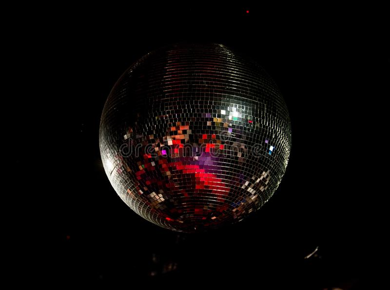 Giant disco ball in the discoteque royalty free stock images