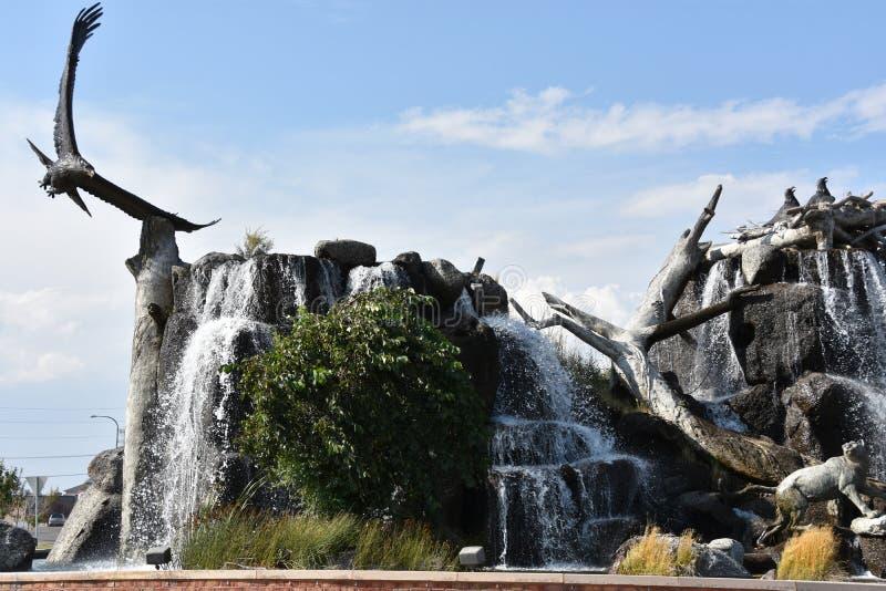 Giant Eagle Waterfall Nest in Idaho Falls. Idaho stock photos
