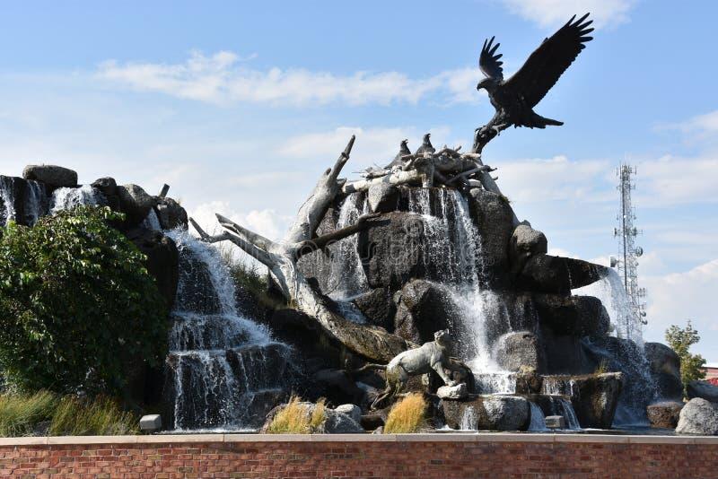 Giant Eagle Waterfall Nest in Idaho Falls. Idaho royalty free stock images