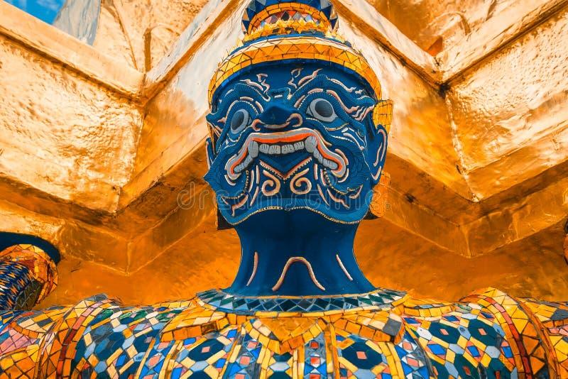 The Giant at the Emerald Buddha, Bangkok, Thailand stock photography
