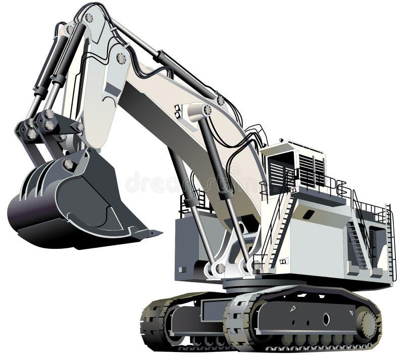 Giant excavator vector illustration