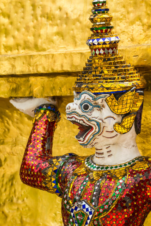 Giant Face in Grand Palace, Thailand. Close Up of Giant Face in Grand Palace, Thailand royalty free stock photography