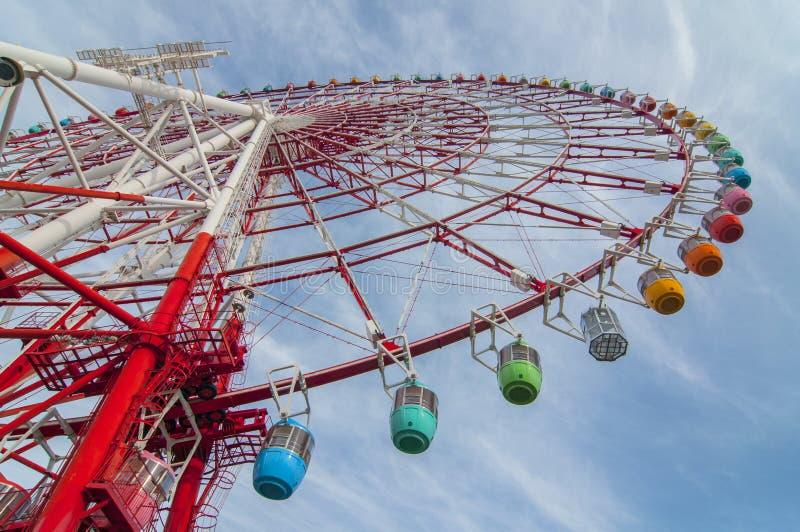 Giant ferris wheel from Odaiba, Tokyo, Japan.  royalty free stock photo