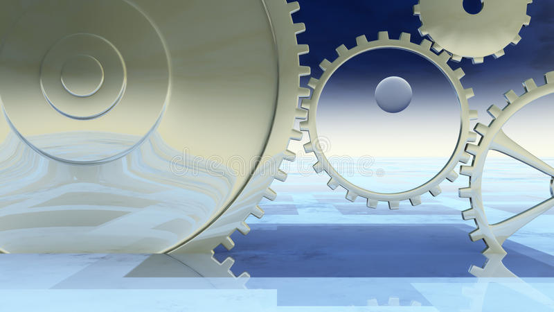 Giant Gear Background royalty free stock photo