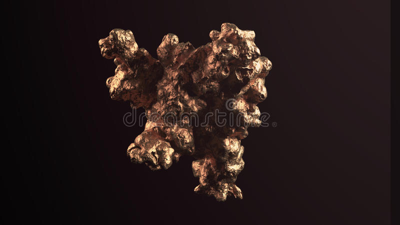Giant gold nugget royalty free stock photo