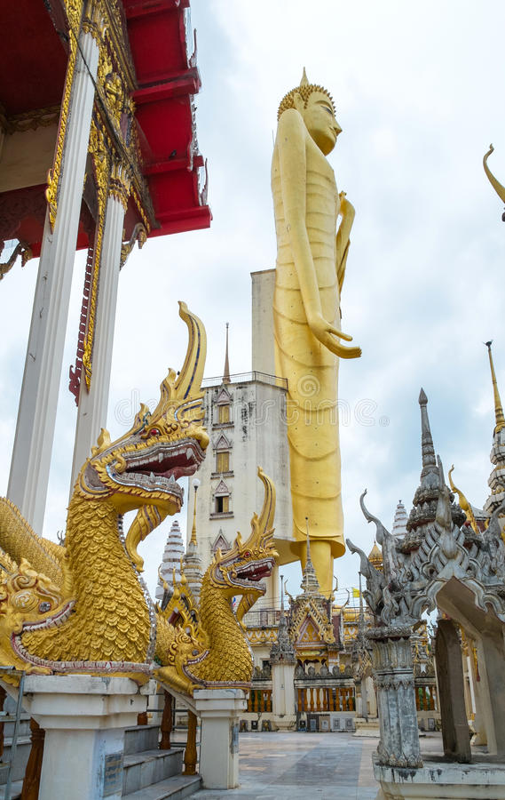 The giant golden Buddha,Buddhism,Thailand stock image