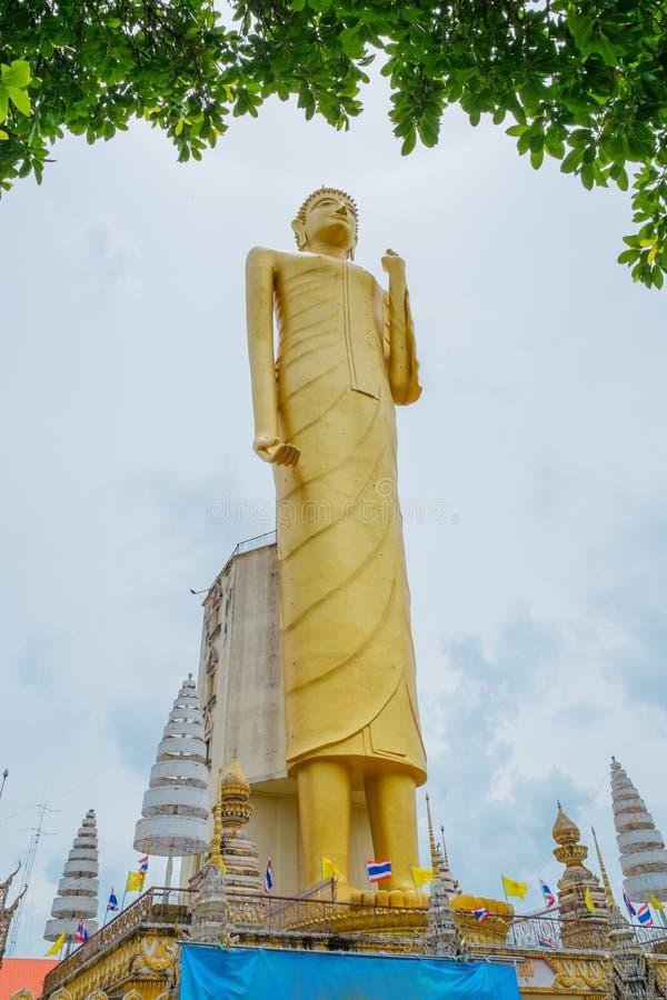 The giant golden Buddha,Buddhism,Thailand royalty free stock photos