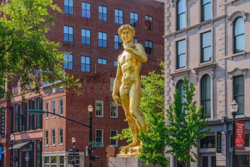 Giant Golden David stock image
