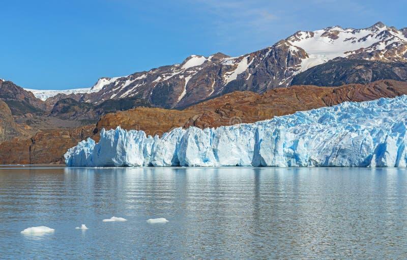 Grey Glacier in Spring, Patagonia, Chile stock photo