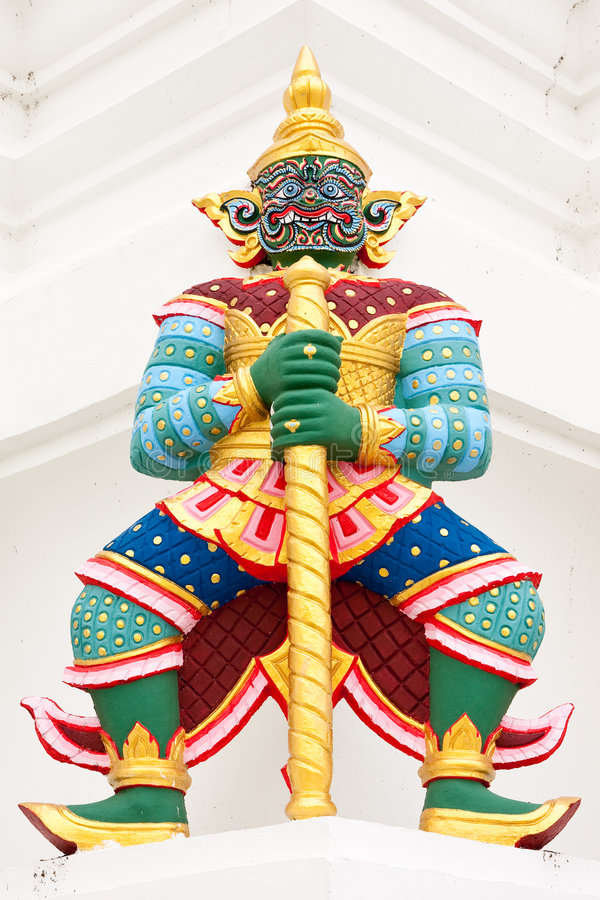 Free Giant Guardian Statue In Thai Style Royalty Free Stock Images - 9327409
