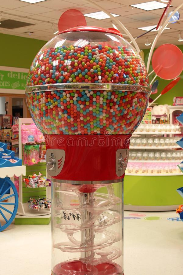 Giant gumball machine. In yankee candy at yankee candle village royalty free stock photos