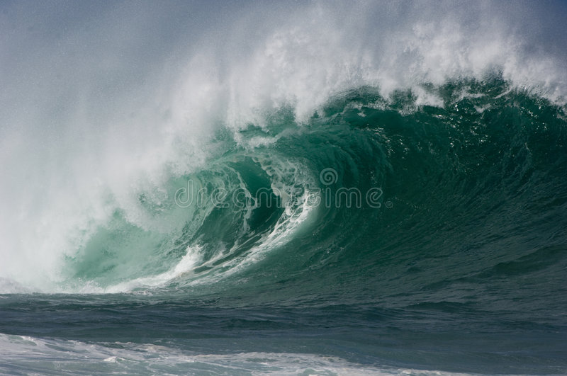 Download Giant hollow wave stock photo. Image of sandy, beach, barrel - 4034272