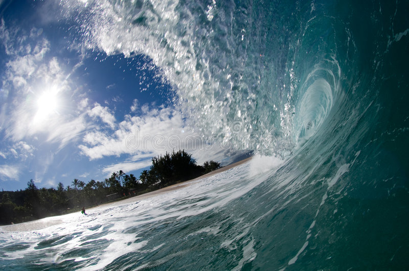 Download Giant hollow wave stock photo. Image of pipeline, ocean - 4034296