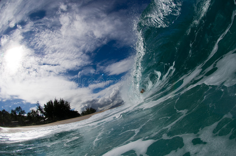Download Giant hollow wave stock image. Image of sandy, barrel - 4034321