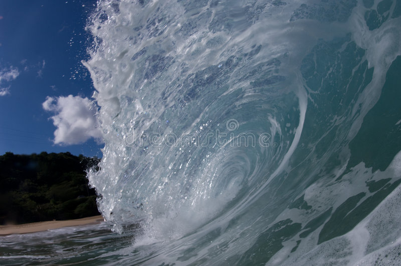 Download Giant hollow wave stock photo. Image of wave, clear, perfect - 4464132