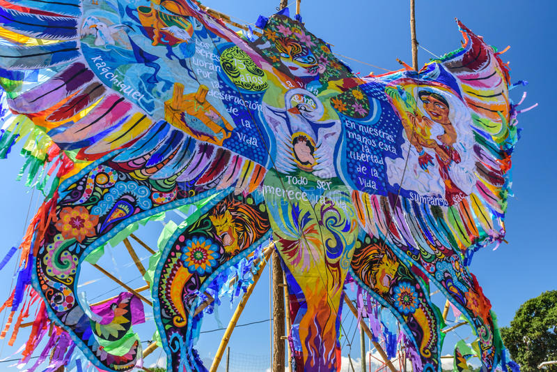 Giant kite festival, All Saints' Day, Guatemala royalty free stock photo