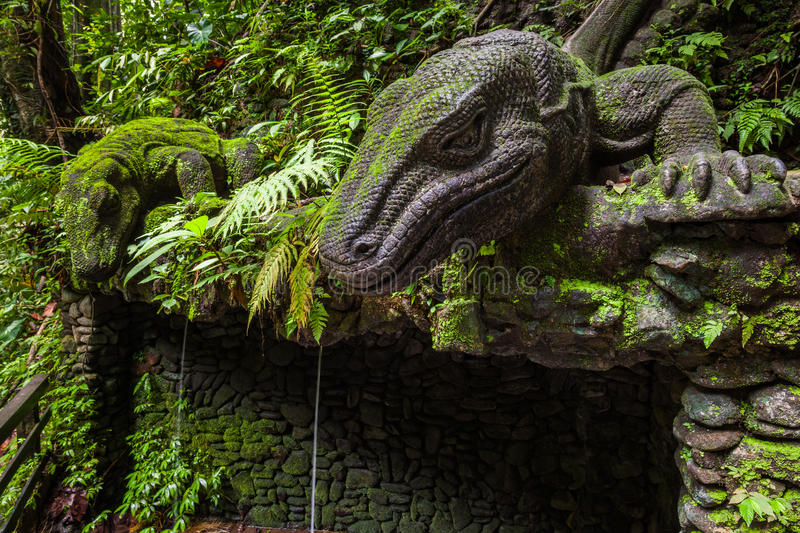 Download Giant Lizard In Sacred Monkey Forest Sanctuary, Ubud, Bali Stock Image - Image of queen, religion: 69131593