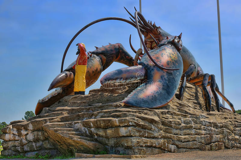 Giant Lobster Statue Stock Images