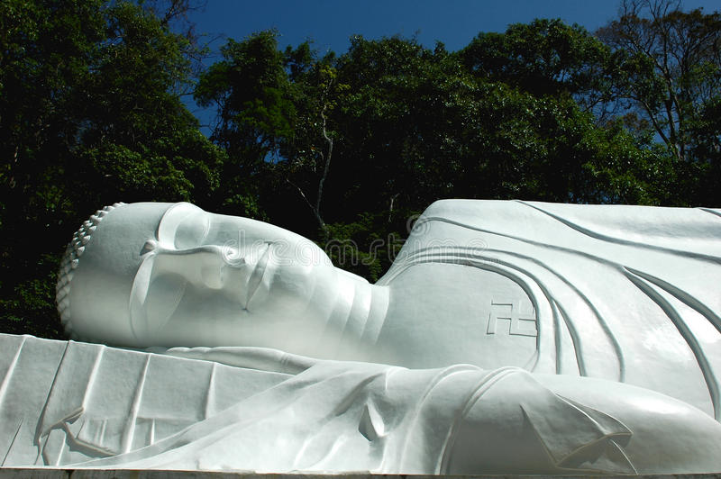 Giant lying Buddha royalty free stock photos