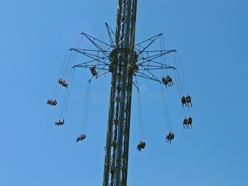 Giant merry-go-round chairoplane. Tivoli Gardens Copenhagen Denmark royalty free stock images