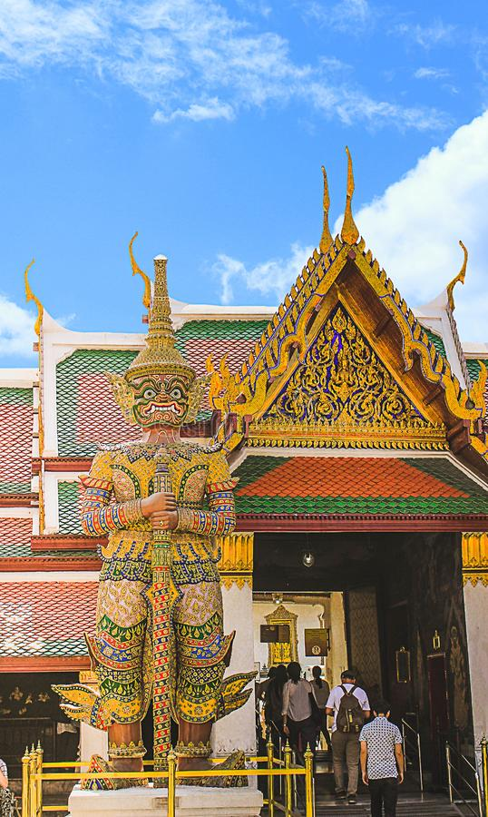 A giant model. Arun Wanaram Temple, Bangkok, Thailand. Date:10/21/2015 royalty free stock photo
