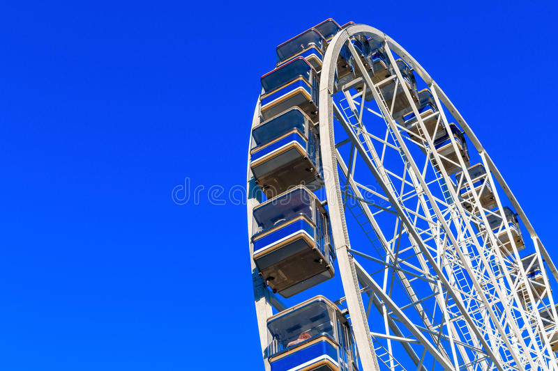 Giant Observation Wheel in Winter Wonderland. A Christmas fair in London royalty free stock photography