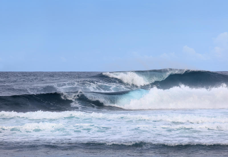 Giant ocean waves stock photos
